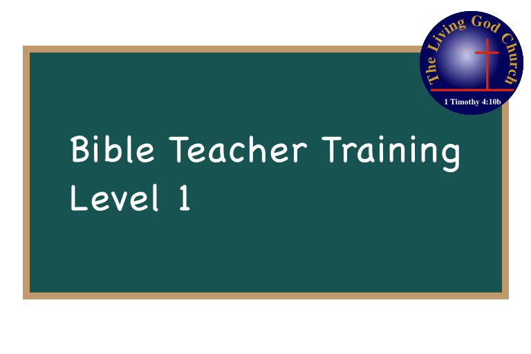 Bible Teacher Training